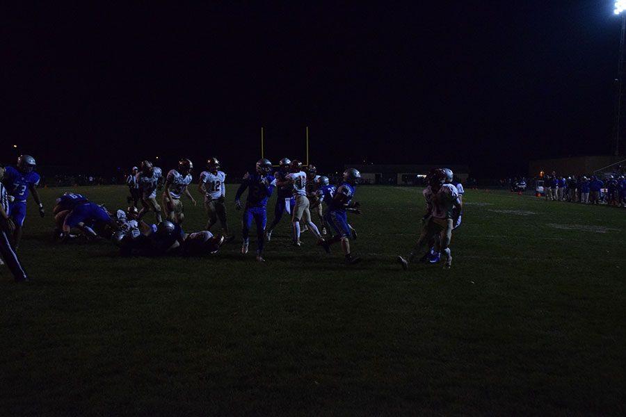 Sophomore Jason Williamson runs in for the touchdown