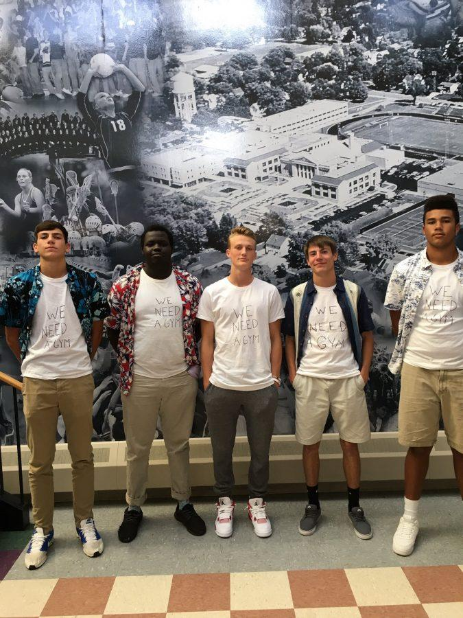 We Need A Gym shirts: Nolan Malo, Khor Wal, Jay Sullivan, Hunter Atkinson, Terrell Connor