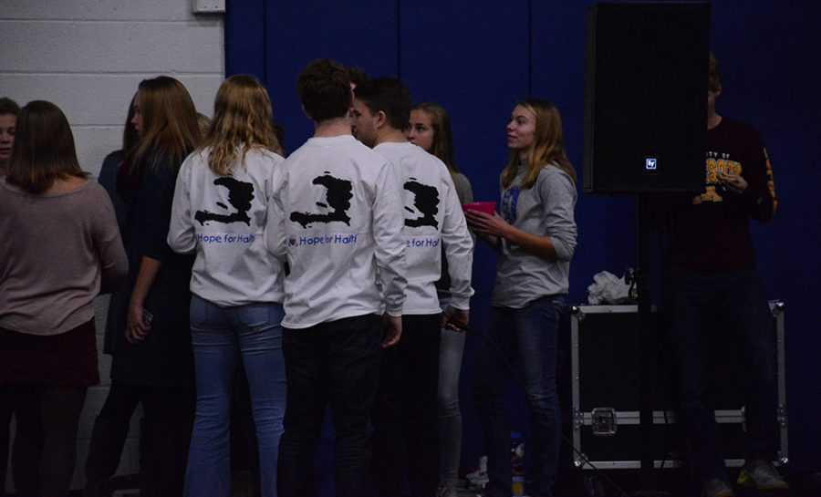 The Student Council shirts for Hope for Hati
