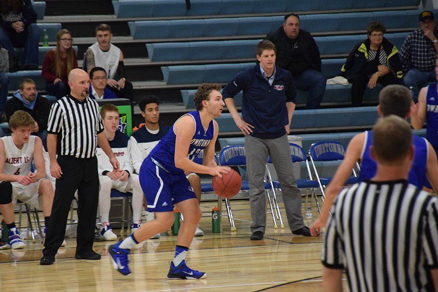 Senior Jacob Neuharth looks to shoot