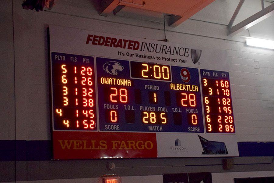 Final score of Owatonna vs. Albert Lea dual