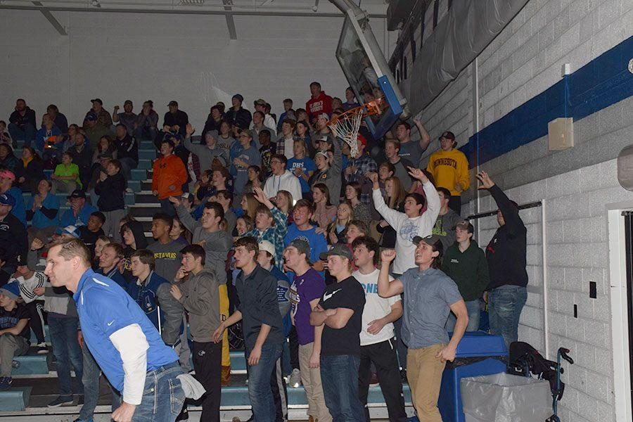 OHS student section during Senior Griffin Thorn's match