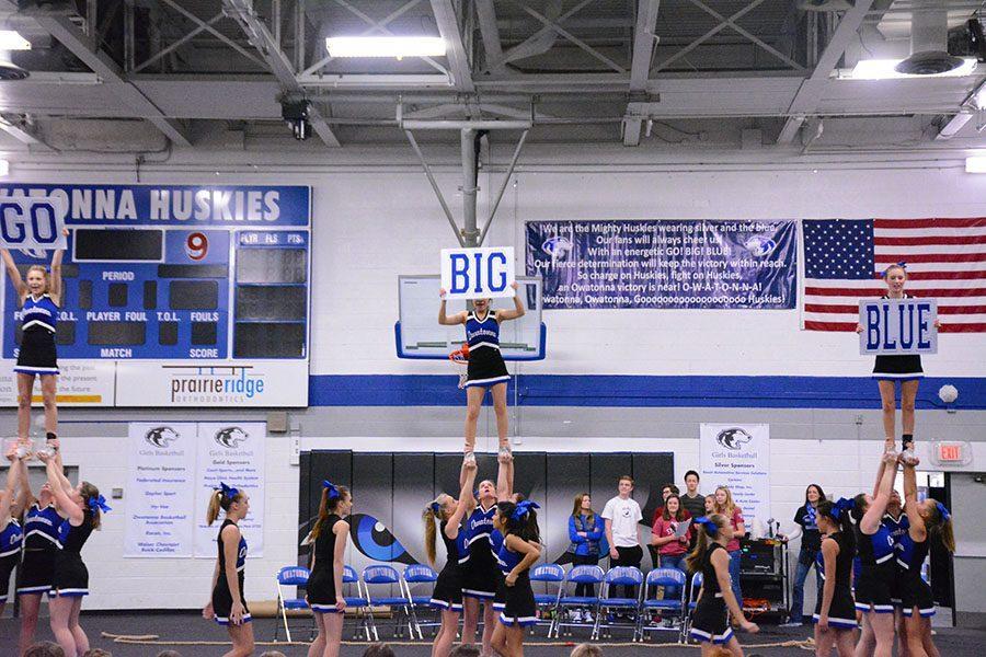 OHS Cheerleaders show school spirit.