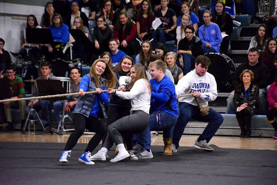Juniors give their all in the tug-of-war competition
