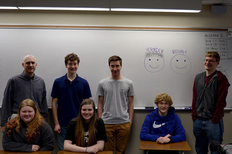 The+OHS+Math+Team+prepares+for+their+last+meet