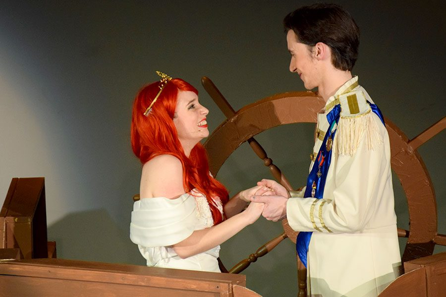 Ariel (Jenna McMains) and Prince Eric (Nicholas Hagen) are together at last