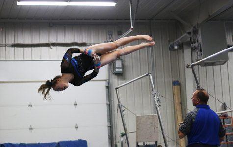 Lindsay Bangs twirls through the air