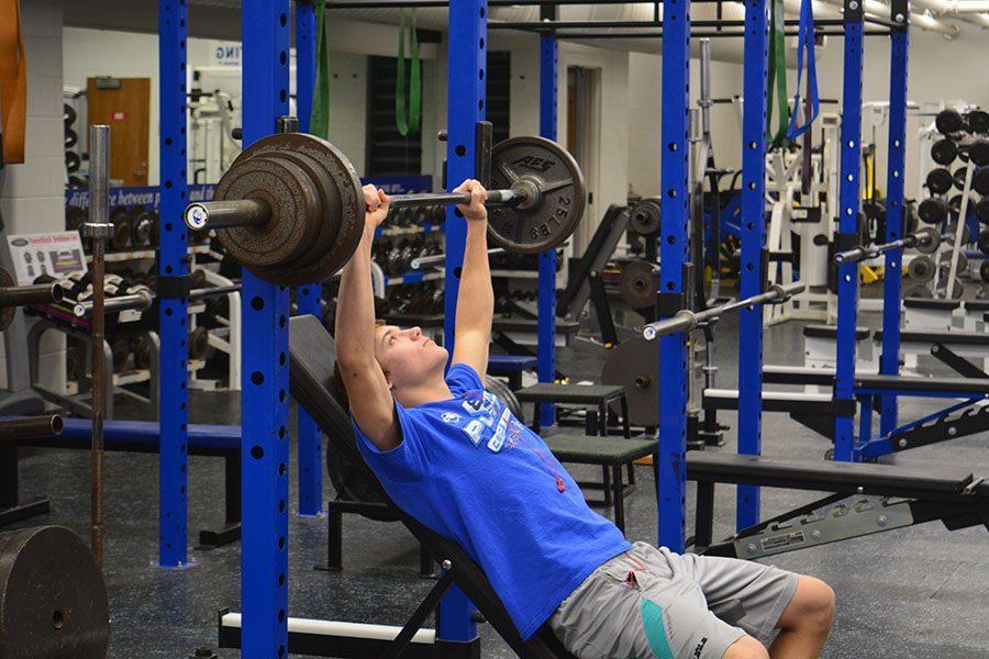 Junior Parker Westphal getting into shape for baseball season