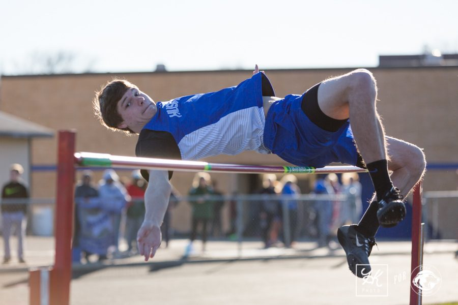 Dalton Kubista completes a high jump