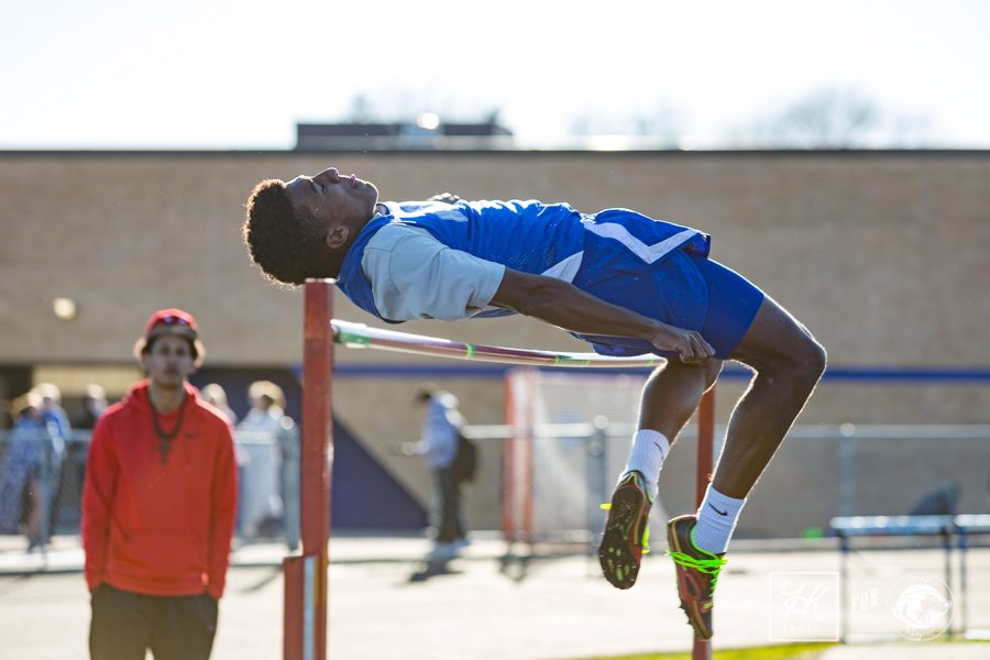 Jadyn Gunderson completes a high jump