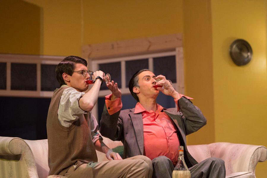 Jacob Wright (Max) and Nick Hagen (Tito) share a good chianti