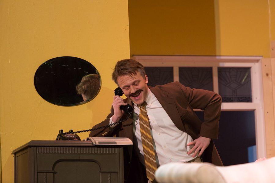 Isaiah Damitz (Saunders) on the phone talking to the Cleveland Opera Company