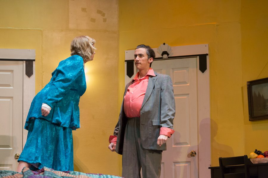 Erin Ackman (Maria) and Nick Hagen(Tito) argue over whether he should take medicine or not