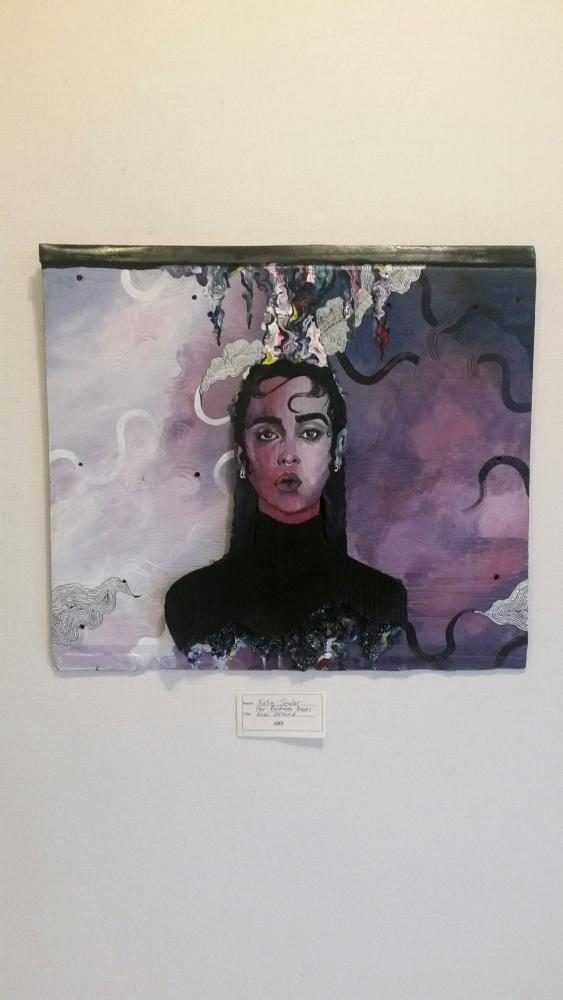 Katie Seglers piece that is currently being displayed at Owatonna Art Center