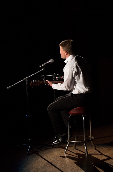 Andrew Wall plays and sings an original song as his talent