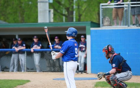 Dawson Leer gets ready for a new pitch in his at bat