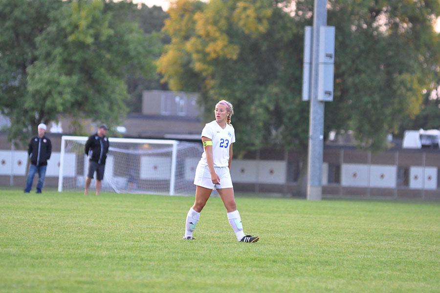 Senior  captain Margo Achterkirch during game