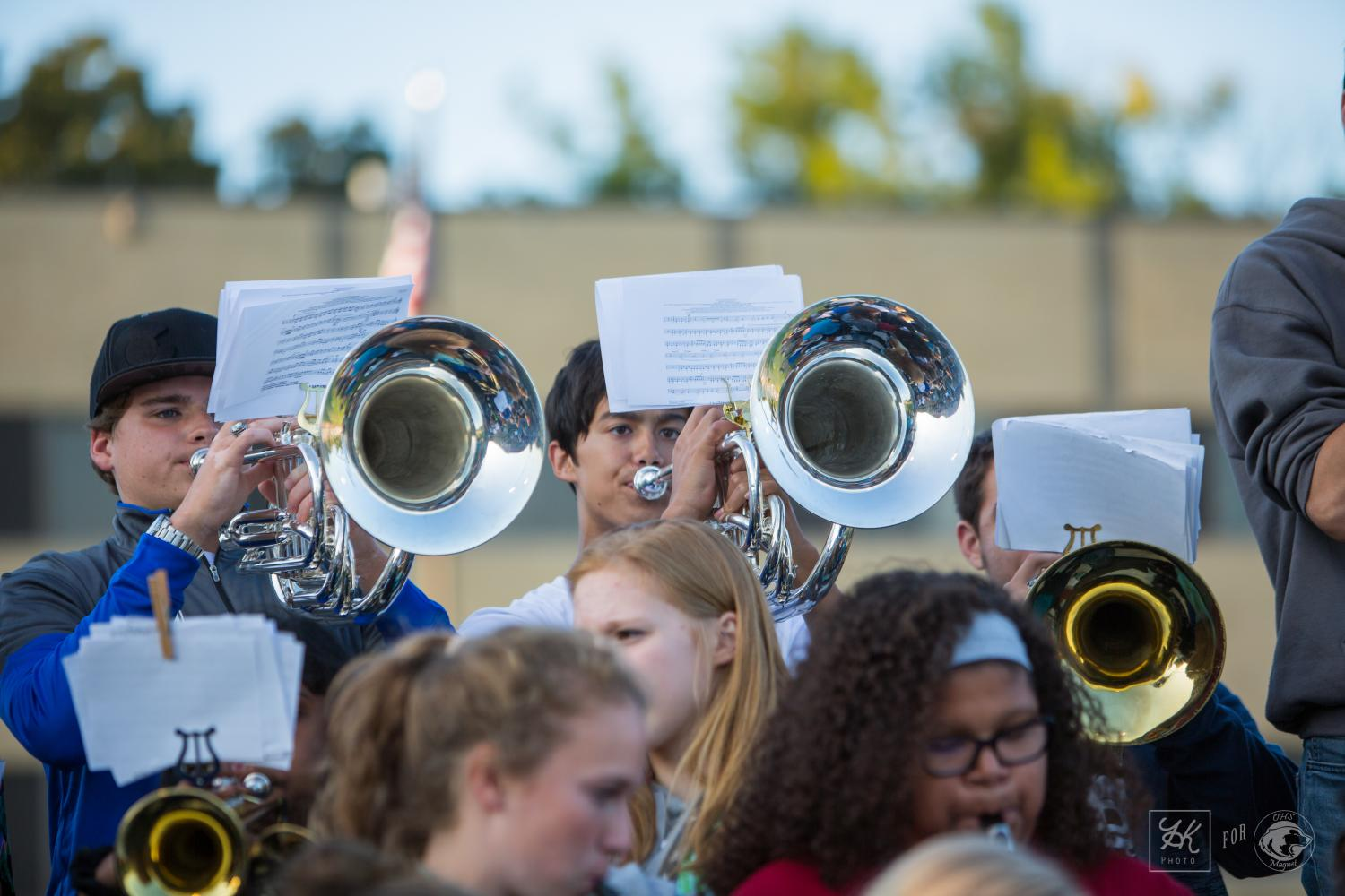 OHS Pep Band will be performing at many OHS winter sporting events