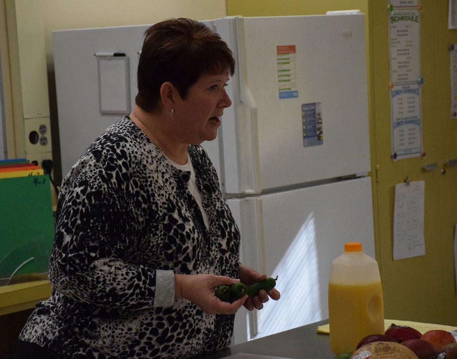 Ms. Lage addresses Culinary Club