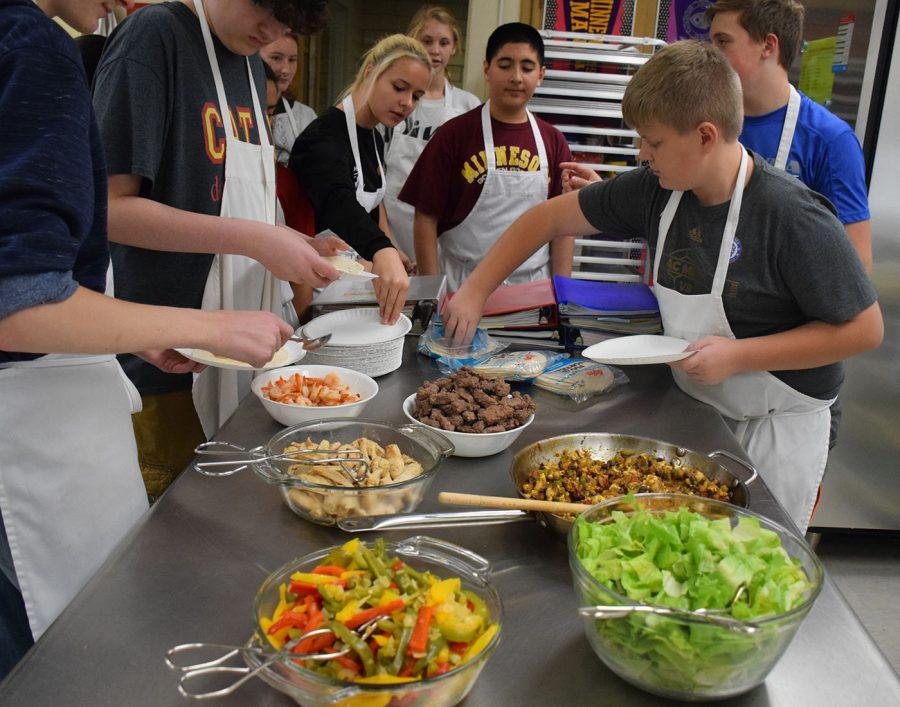 Culinary Club enjoys their hard work