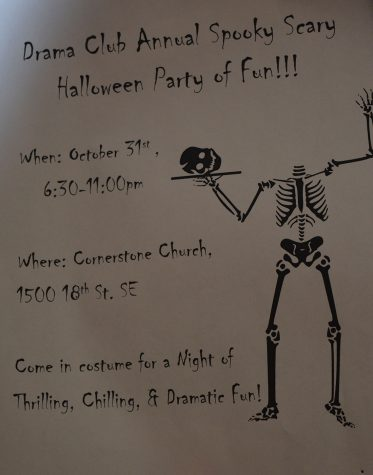 Don't miss the 2nd Annual Drama Club Halloween Party