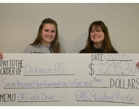 Cash Drive ends week with OHS Mangeant