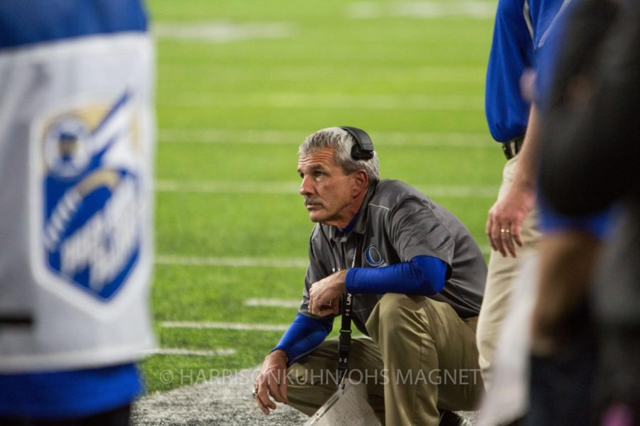 Coach Jeff Williams observing a play