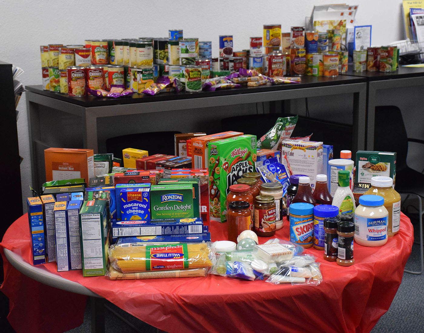 All of the food donations.