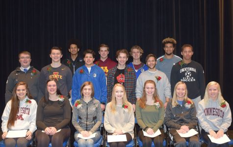 Top 12 Snow Week King and Queen Candidates  Seated: Sarah Spears, Brooke Parker, Claire Borgerding, Clare Keltto, Greta Jacobson, Hannah Gebur, Lexi Falken Middle: Sheldon Jensen, Ian Rubish, Andy Jensen, Will Titchenal, Mason Padilla, Kenny Johnson Back Row: Andrew Jackson, Dylan Meier, Braeden Meier, Terrell Conner Not Pictured: Julia Haarstad, Kyra Rahn, Olivia Spatenka, Taylor Szymanski,  Kenna West, Ian Crum, Owen Kosolosky and Spencer Steckelberg