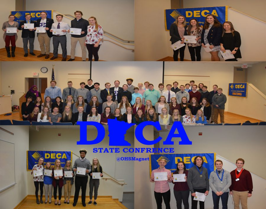 OHS students competed at DECA State on 3/5/18.