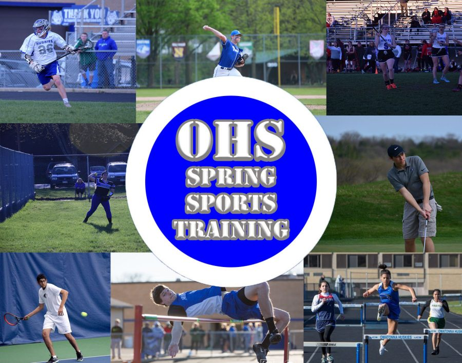 Spring sport athletes prepare for the upcoming season.