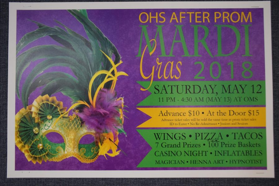 Poster for the OHS after prom