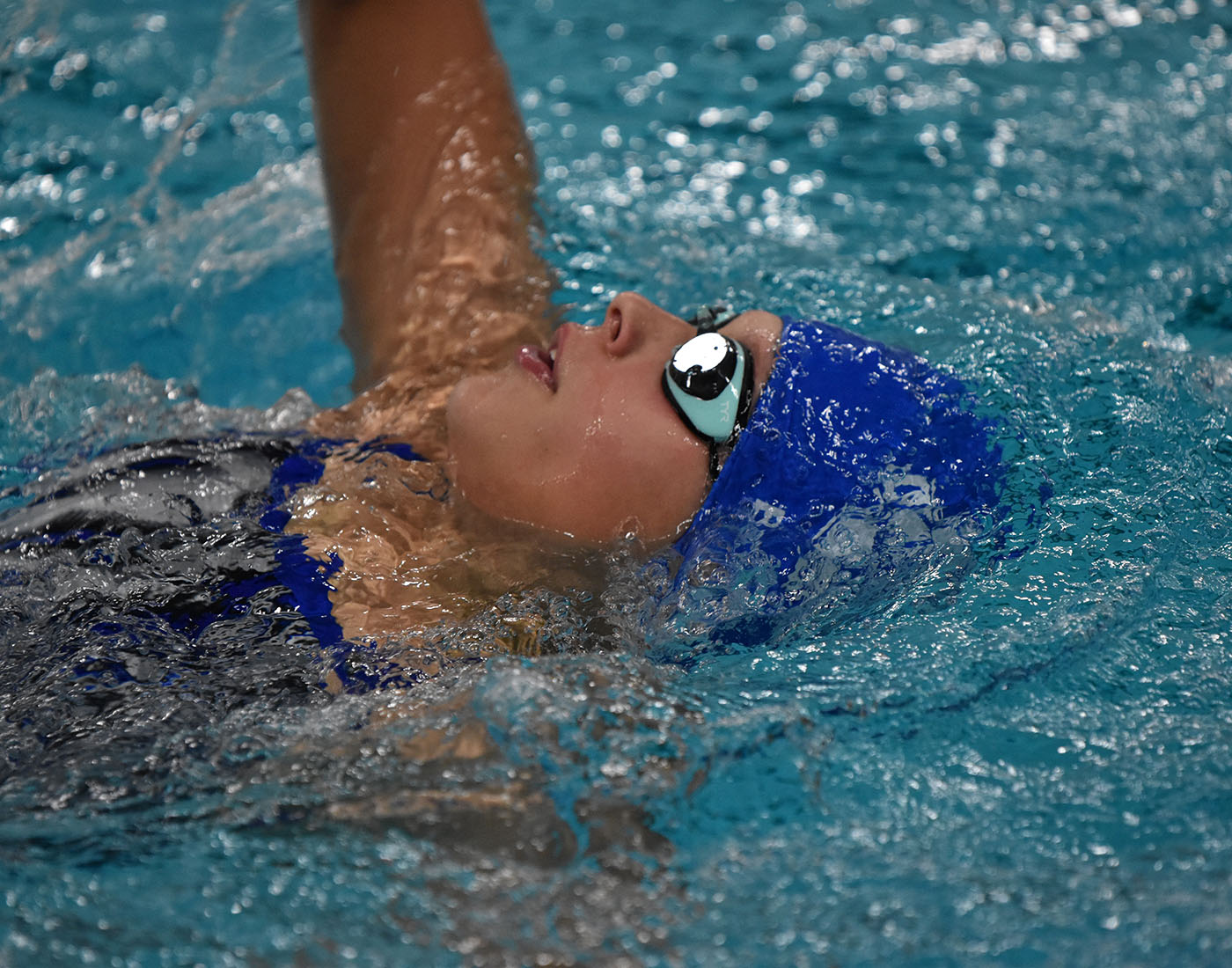 The Owatonna swimmer strokes her way to the finish