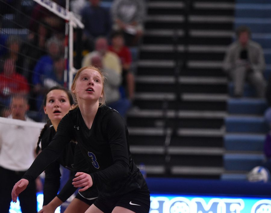 Owatonna's Volleyball team looking for the ball
