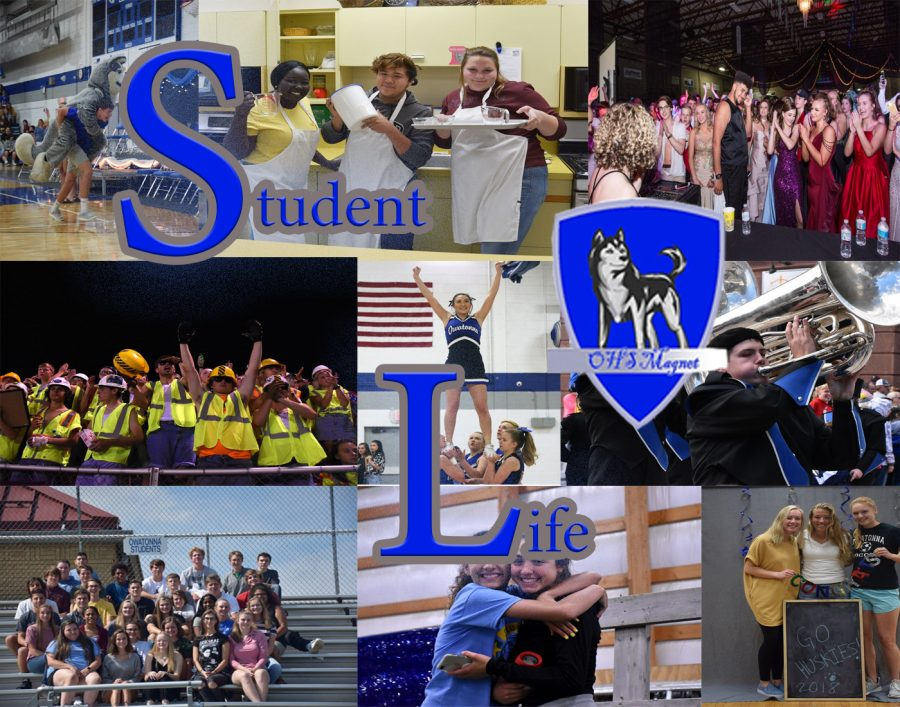 Student Life stories feature clubs and student profiles