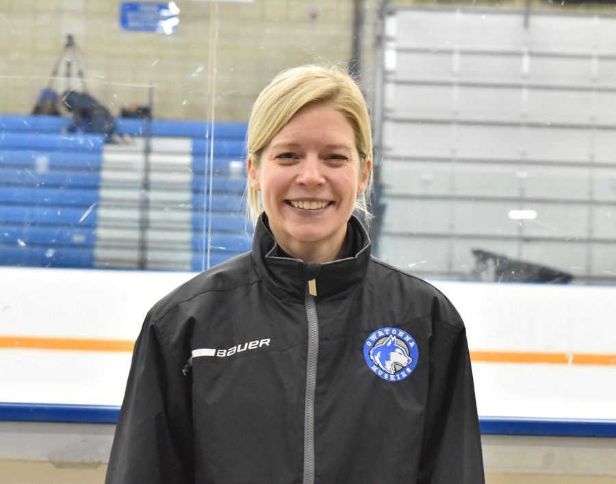Sarah Murray is in her first year coaching OHS girls hockey