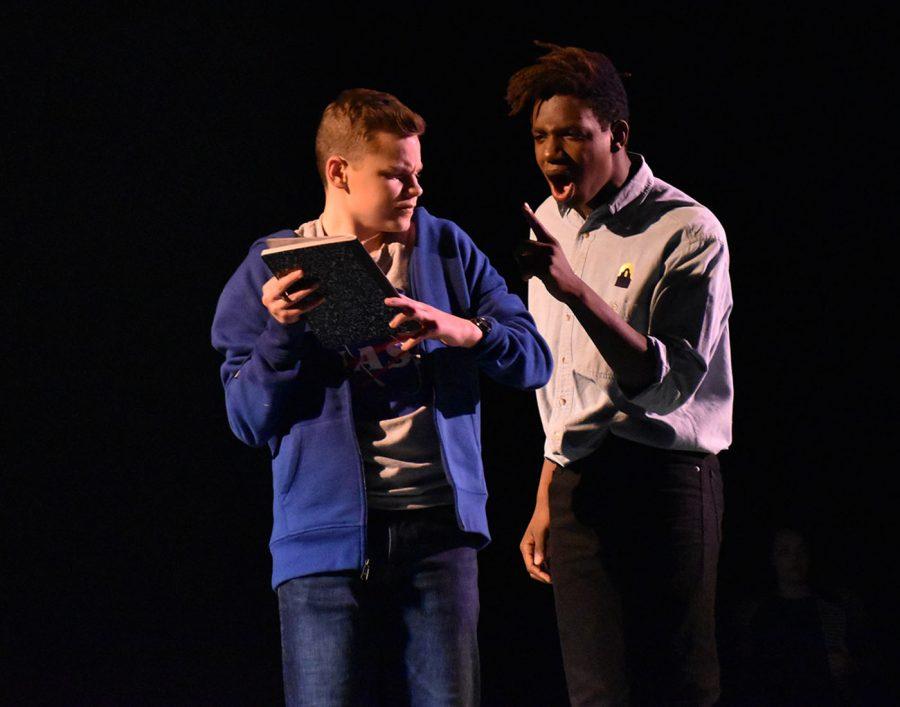 Jackson Hemann and Korey Adams   as Christopher and Christophers father, Ed