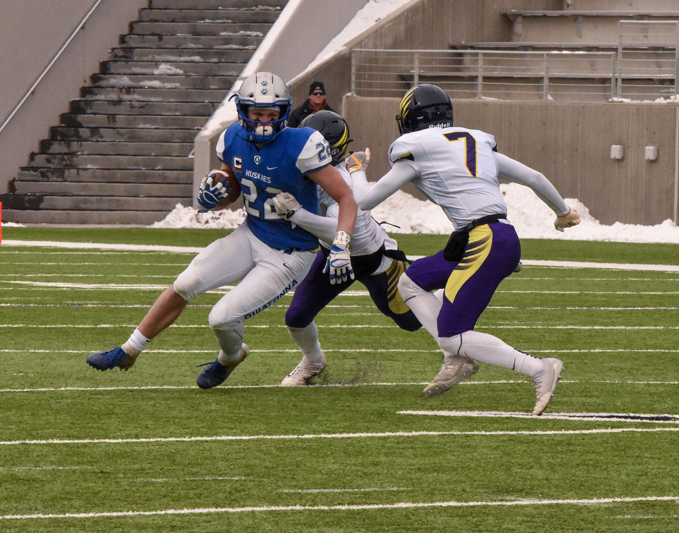 Jason Williamson  ran in five touchdowns against the Chaska Hawks.