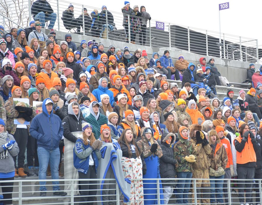 The student section gets loud