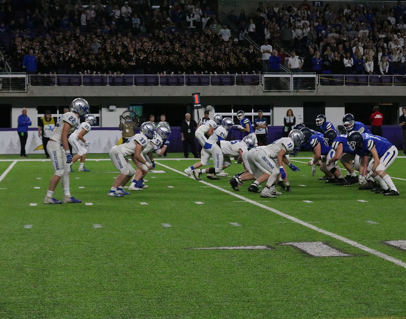 Owatonna+defense+gets+lined+up+for+the+snap+