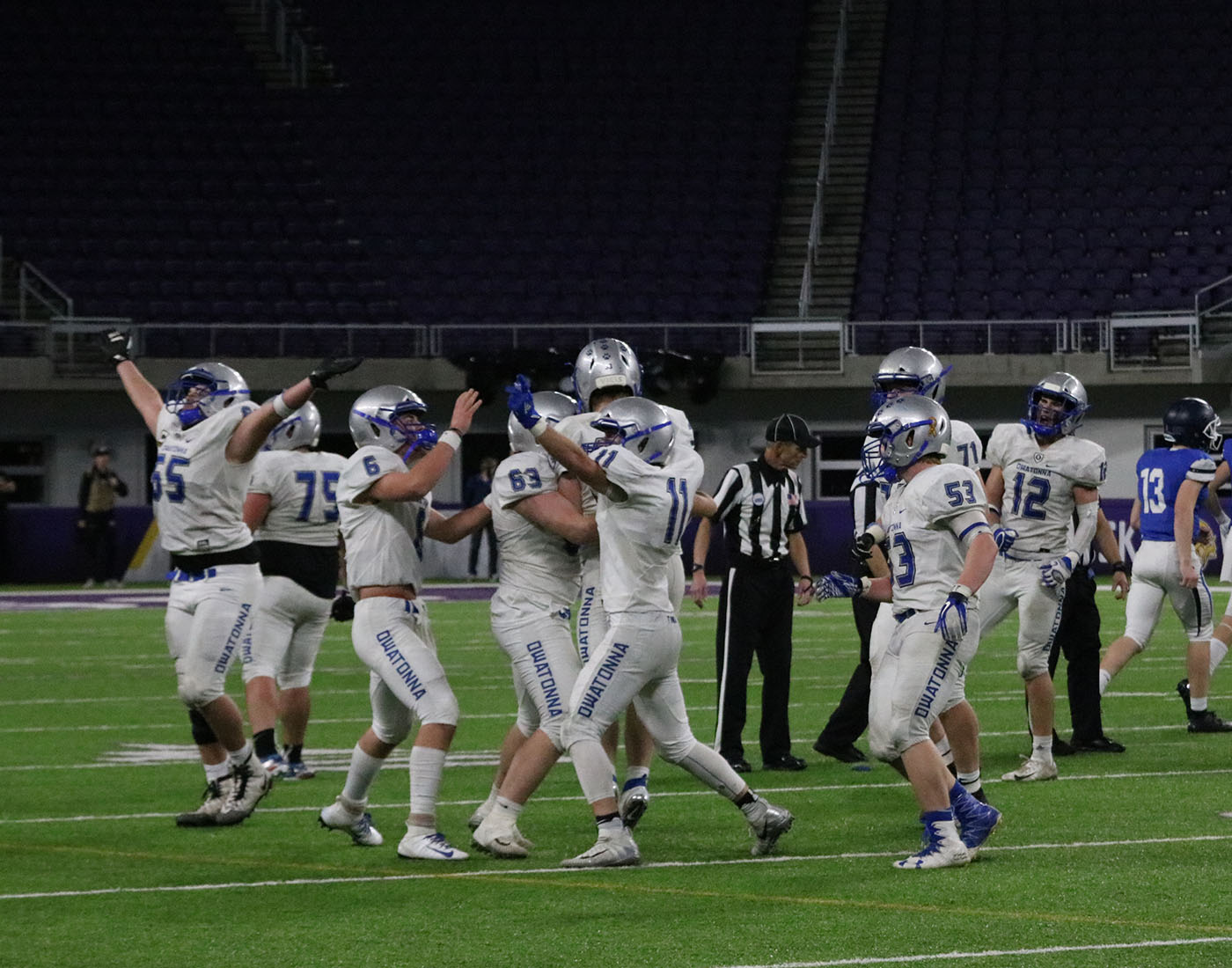 Team+celebrates+as+Isaac+Gefre+recovers+the+game+winning+fumble