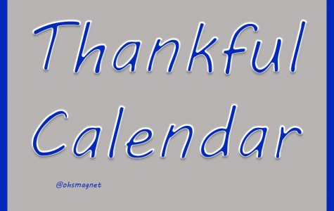 OHS thankful calendar