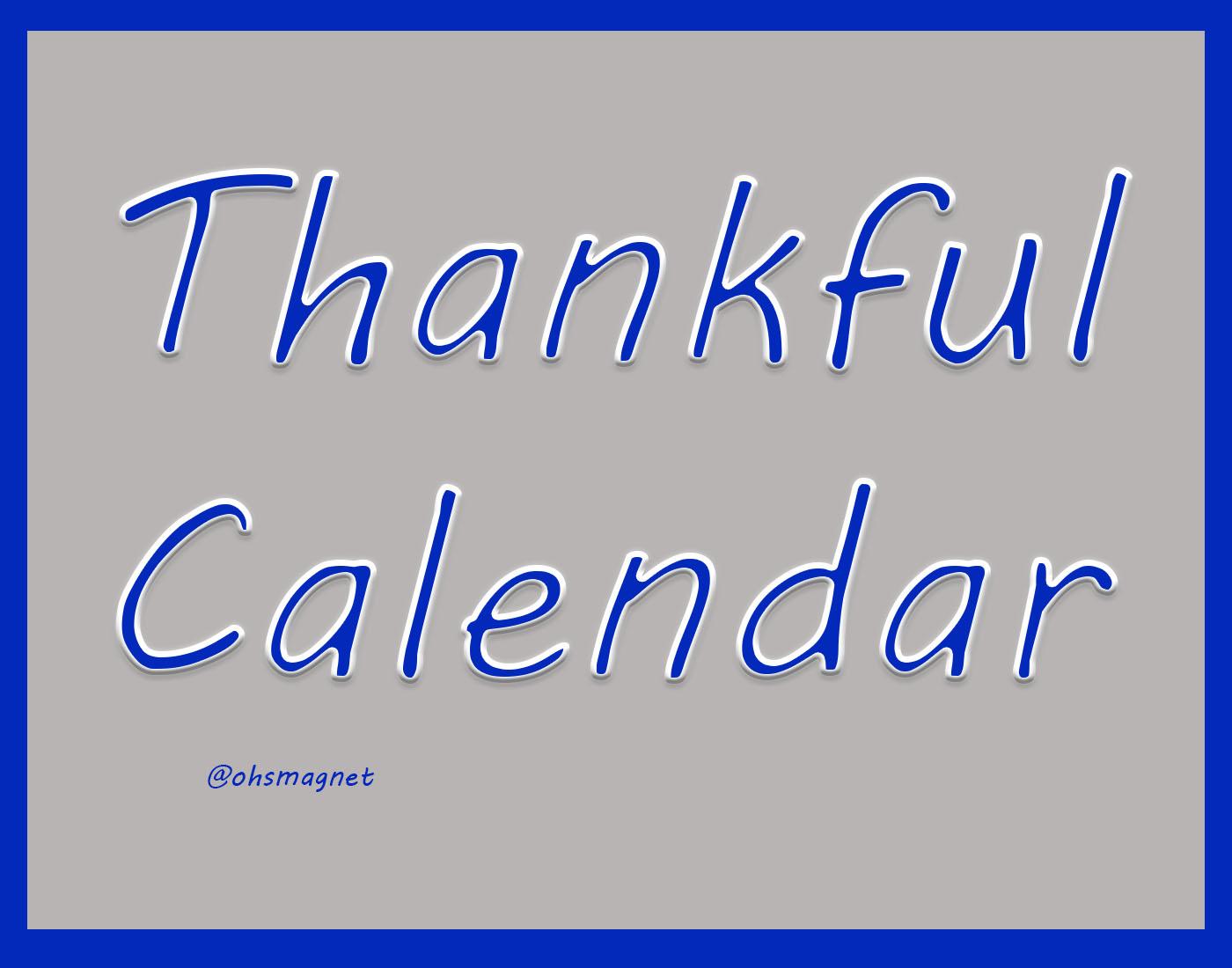 Thankful Calendar