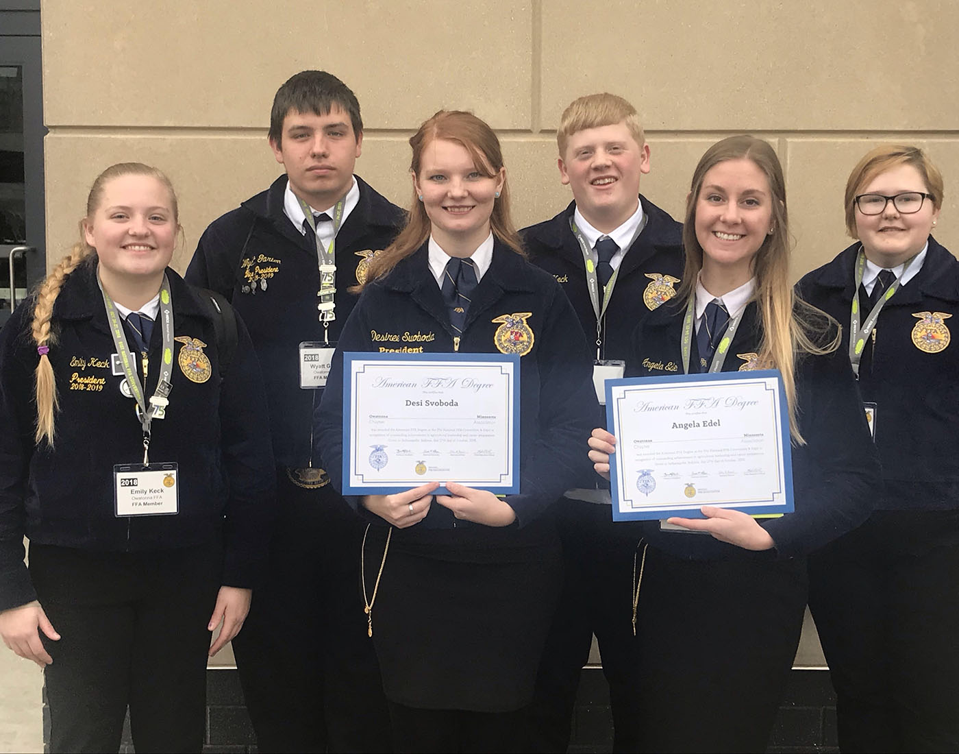 Students attending the FFA conference.