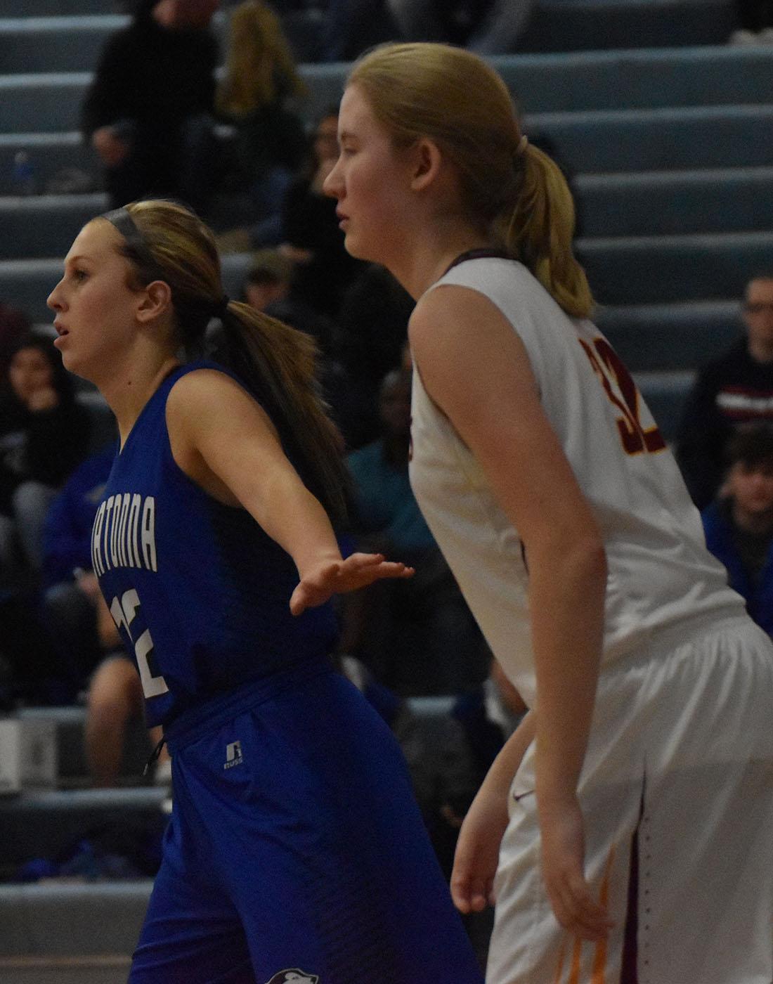 Kenna Schroht Plays defense
