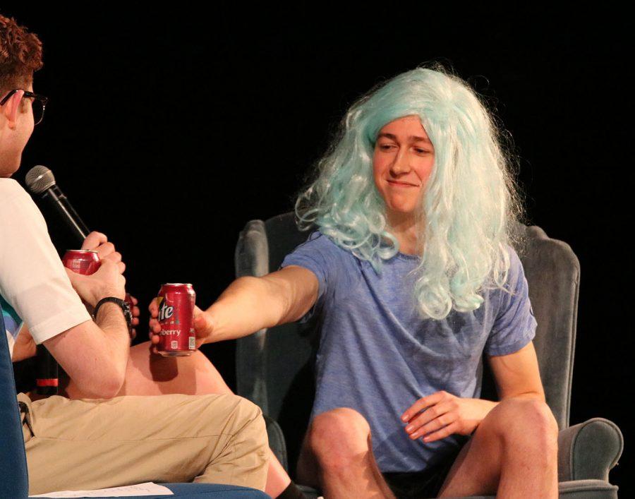 Carter Kuehn enjoys his drink