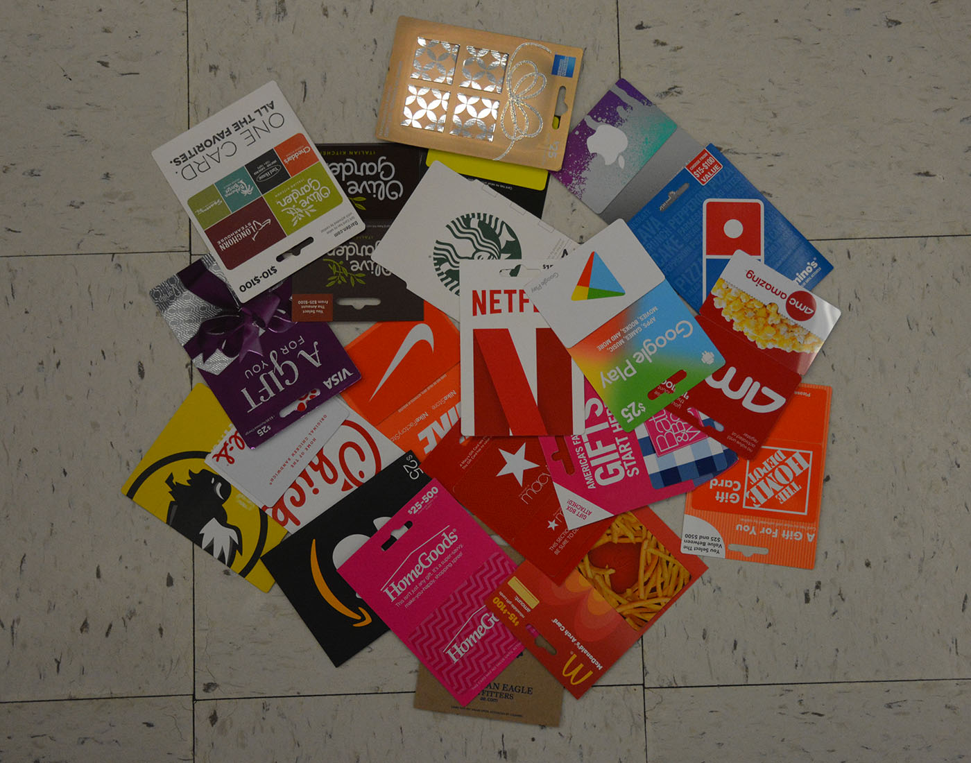 Variety of gift cards offered at local Walgreens
