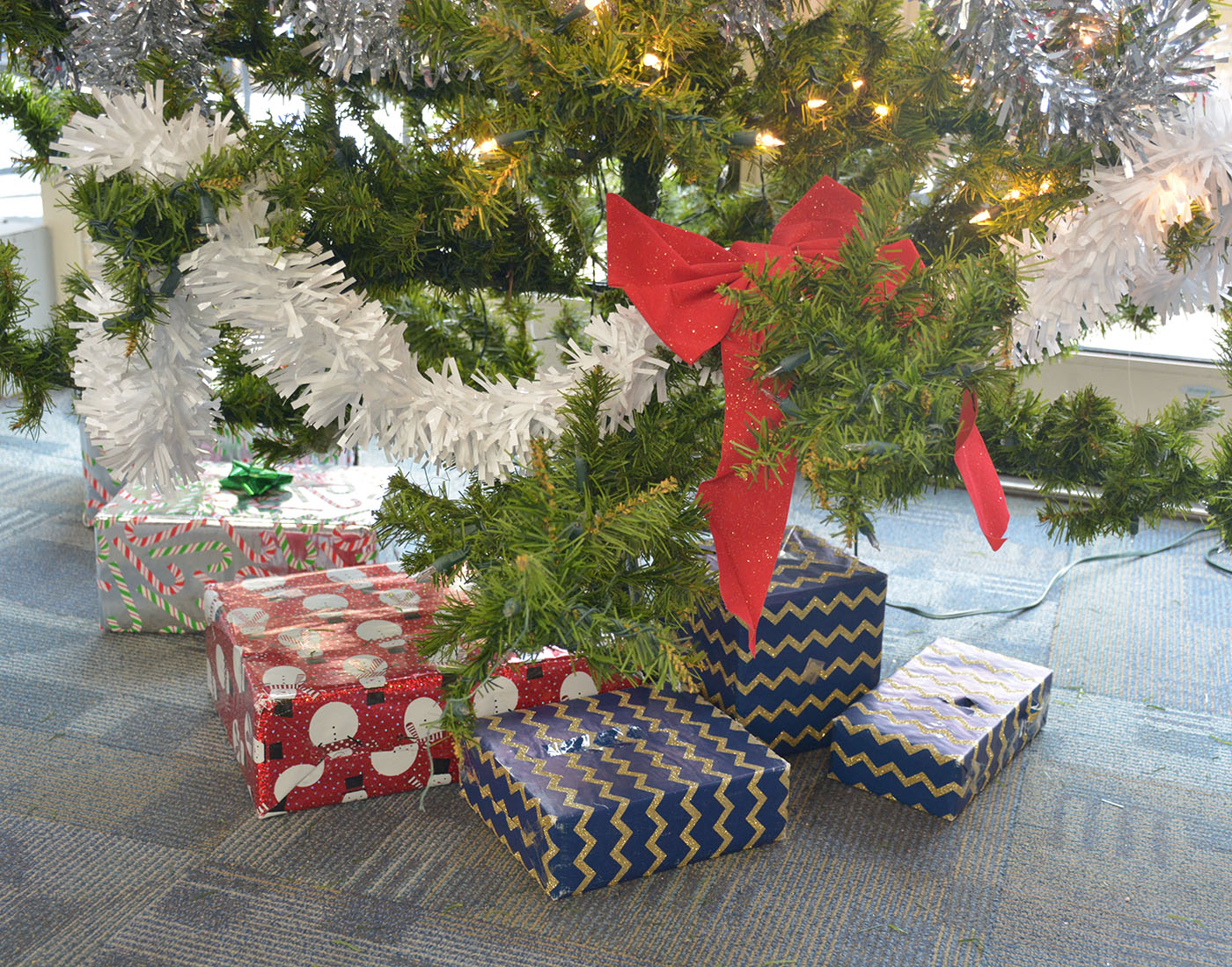 Christmas tree in upper commons
