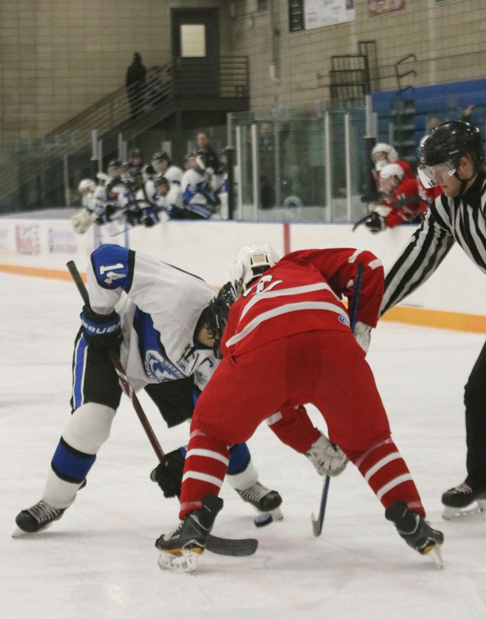 Luke Kubicek does a face off against his opponent