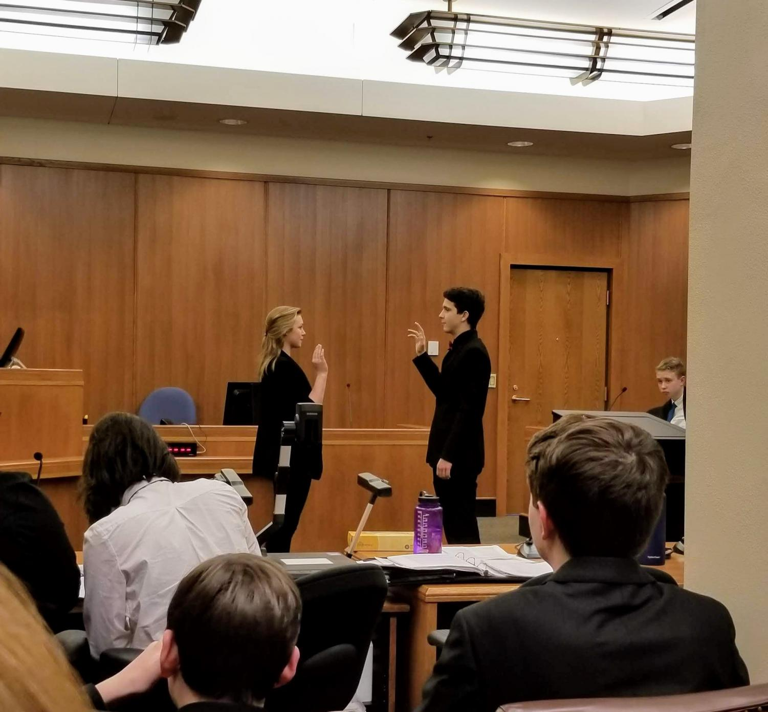 Witness Ellie Youngquist gets sworn in to testify